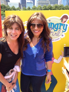 Sporting the bangs with,  Lisa Lillien (a.k.a. Hungry Girl) is a New York Times best-selling author and the creator of the Hungry Girl brand