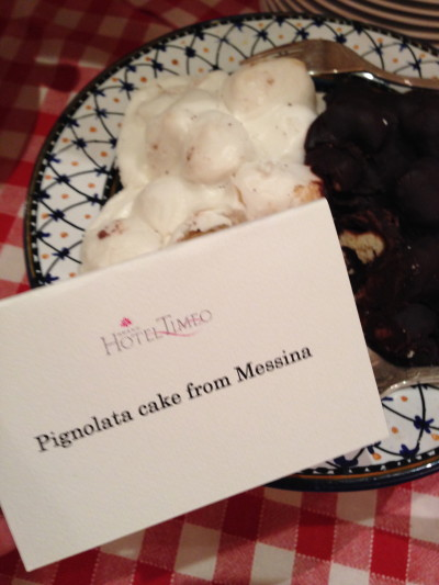 Pignolata cake from Messina