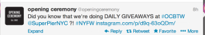 A Tweet from @Openingceremony