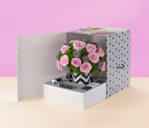 Bold floral designs and signature gift box are sure to wow!