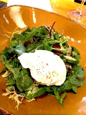 Salad Lyonnaise from Pierrot Gourmet, The Peninsula Chicago's street-level European-style café