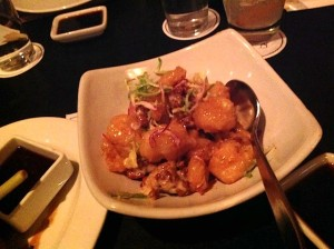 Tiger Shrimp Tempura candied walnuts, creamy honey aioli