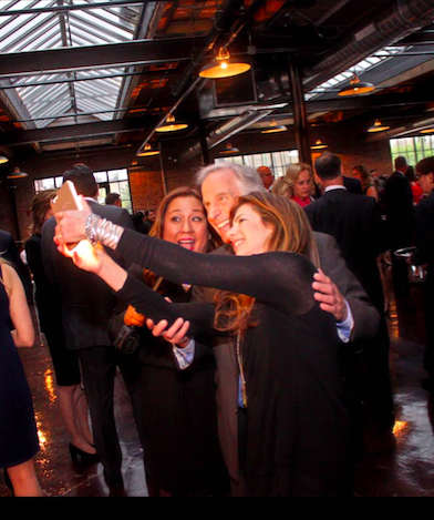 Henry Winkler with MJ Tam takes a selfie, Mr. Winkler gives so much of his time to help others.