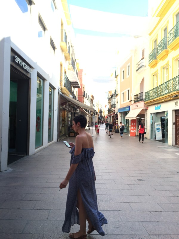 The heart of Seville's shopping district is Calle Sierpes