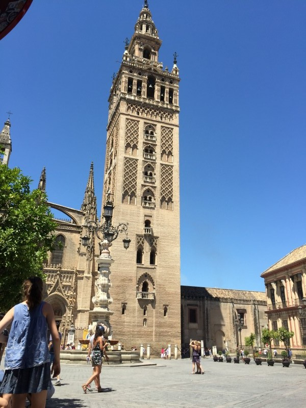 The Cathedral of Saint Mary -Built on the site of a grand Almohad Mosque, Seville's cathedral was built to demonstrate the city's power and wealth