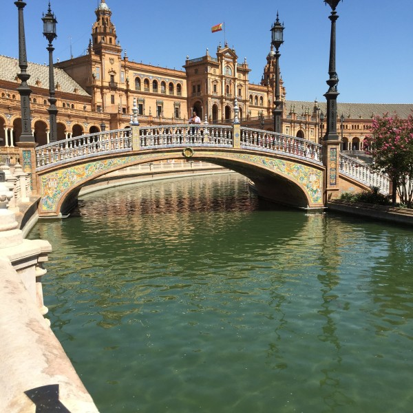 """The Plaza de España is a plaza in the Parque de María Luisa, in Seville, Spain, built in 1928 for the Ibero-American Exposition of 1929"""